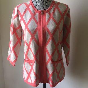 Liz Claiborne ZIP Front Cardigan Sweater